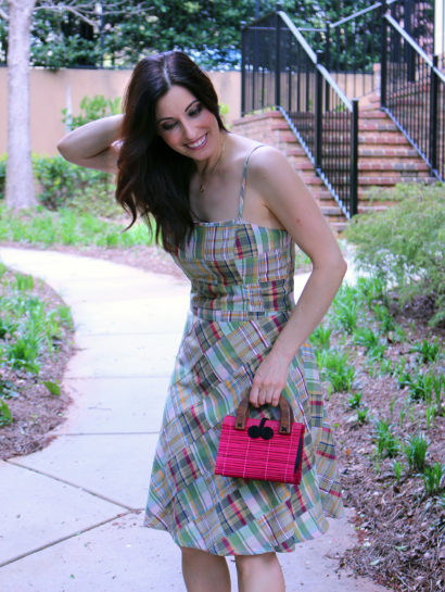spring cruelty free outfit of the day - madras dress